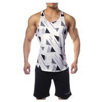 Carro armato del Mens traspirante Sport Fitness maschio Unserwear estate casuale Moda Uomo canotte Camouflage Quick Dry