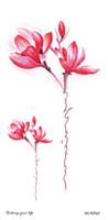 Последние Fashional Временные Татуировки с Пион Лотос Персик Павлин Тату Дизайн Водонепроницаемый Боди-Арт Стикер Женщины