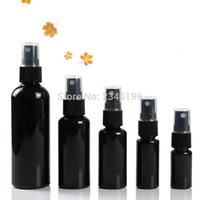 Botella plástica del aerosol 60ml Vacío Negro spray botella de la bomba 50ml spray 20ml 30ml botella plástica y estética vaciar contenedores de 100 ml 50pcs