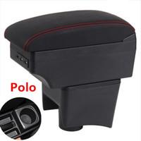 Автомобиль подлокотник чехол для Polo 2011-2018 подлокотника ЦУМ Content Storage Box