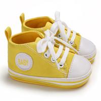 Niño de los bebés Zapatos de Niño recién nacido lienzo botines del cochecito de niño del pesebre zapatos suaves Sole Prewalker infantil de los niños zapatillas de deporte el primer caminante