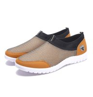 Mesh Sneakers chaussures pour hommes Souliers Chaussures respirante Hommes Slip-Male Mocassins Walking Casual 38-48