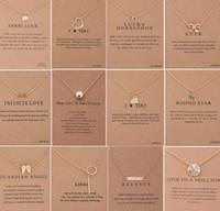 60 أنماط dogeared الاختناق قلادة مع بطاقة ذهبية فضية اللون حسن الحظ الفيل قلادة نوبل المختنق الحب هدية عيد 30 قطع