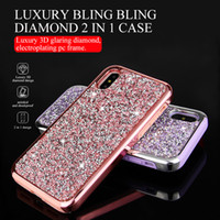 Bling Diamond Glitter Hybrid Dual Layer 2 in 1 TPU PC Case F...