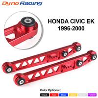 Civic 96-00 EX SI JDM LCA EK EKのためのホンダのための1対リアローコントロールアームサブフレームブレースタイバーアームASRキット