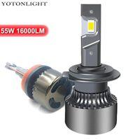 2 PCS LED H11 H4 LED Headlight Kit H7 9006 H1 H3 Ampoule 9005 HB3 HB4 55W 16000LM H8 H9 D2S 9012 HIR2 6000K 12V