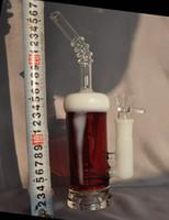 Qualität des neuen Entwurfs 10inch Bernstein weiße Farbe Bierglas bong Wasserrohr 18mm mit Glasschale oder Quarz banger