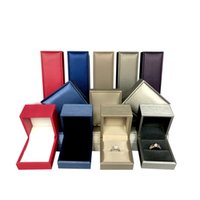 Conjunto de Jóias de luxo Caixas de PU Caixa De Couro Escovado Para Brinco Anel Pulseira Pulseira Colar Caixas De Embalagem