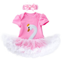New 0- 2year newborn baby girl clothes lace swan baby romper ...