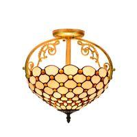 Lampadari europea Tiffany Retro Shell luce del pendente Mediterraneo Camera studio Home Garden Restaurant lampada Deco Stained Glass