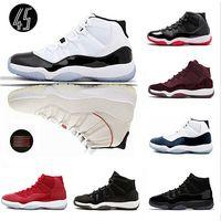 Высокого качество Баскетбольной обувь Concord High 45 11 XI 11s шапочка и мантия PRM Наследница Центр Чикаго Платинового Space Джема спортивных кроссовки