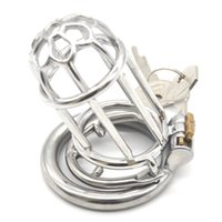Sex Ring 304 Stainless Steel Chastity Belt Penis Cage Cock Ring Sleeve Male Chastity Device BDSM Sex Toys for Men G7-247E