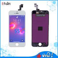 شاشة LCD Efaith Tianma ل iPhone 5G / 5C / 5S / 5SE شاشة تعمل باللمس محول الأرقام مع الشحن DHL مجانا