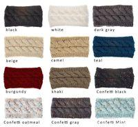 21 الألوان محبوك الكروشيه واسعة النساء عقال الرياضات الشتوية حك الشعر Hairband العمامة الأذن أدفأ غطاء للأذنين الملحقات على شكل ذيل حصان الشعر WCW780