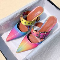 2020 Summer Sexy Women Pointed Toe Pumps Buckle Strap Ladies...