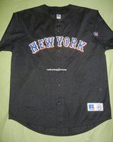 jerseys barato Retro NEW YORK em branco Top Batting Practice malha Jersey Preto MT Mens costurado beisebol