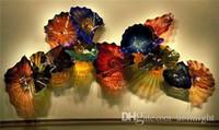 Бесплатная доставка Новое прибытие рот выдувное стекло настенная плитка Чихули Стиль Европейский дизайн боросиликатного стекла Настенные светильники
