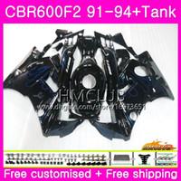 Bodys para HONDA CBR 600F2 CBR 600 F2 FS 91 92 93 94 76HM.15 llamas azules CBR600 F2 CBR600FS CBR600RR CBR600F2 Carenado 1991 1992 1993 1994