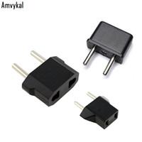 Amvykal 높은 품질 USA 미국 EU 플러그 어댑터 여행 충전기 Adaptador 변환기 유니버셜 AC 전원 전기 플러그 소켓 100 개 / 많은