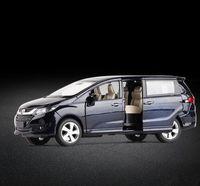 محاكاة عالية هوندا أوديسي، 1: 32 مقياس نموذج سيارة سبيكة التراجع، دييكاست معدنية المركبات لعبة 6 أبواب مفتوحة، والشحن مجانا Y200109