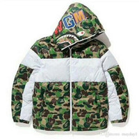 Fashion Cartoon big mouse mens designer jacket camouflage st...