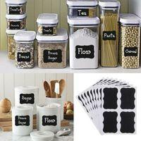 4pcs / set Tableau noir Sticker Craft Cuisine Jars Organisateur Étiquettes Chalkboard Board Chalk autocollant noir Conseil Étiquette CCA11599-A 500set