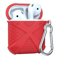 For Apple Airpods Silicone Case With Hook Protective Cover S...