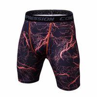 Мода Фитнес Compression Shorts Men Твердая Высокая эластичность Тощий Калипсо Короткие штаны MMA CrossFit Бодибилдинг Мужские шорты