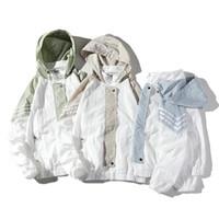 여름 남자 스트리트 힙합 재킷 새로운 도착 재킷 운동복 캐주얼 남성 까마귀 코트 느슨한 지퍼 포켓 사이즈 S-4XL