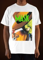 The Mask Movie Poster Ver. 1 Jim Carrey T-shirt (Branco) S-3xl 100% Algodão de Manga Curta O-Neck Tops Tee Mens Moda 2019