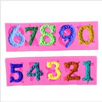 Accessori per la cucina Stampi per il cioccolato 9 stampini per torta stampi in silicone a forma di numero di lettere, stampo per dolci, spedizione gratuita