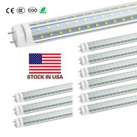 Stock in US + 4ft led tube 60W Cool White 1200mm 4ft SMD2835 Triplex Row 288pcs Super Bright Led Fluorescent Bulbs AC85-265V UL
