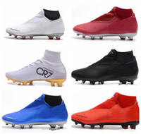 NIKE 2019 Phantom Vision Elite DF FG Chaussures de Football Pas Cher Crampons de Football Crampons Bottes de Formation Bottes de Formation de Football