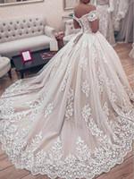 Великолепное кружевное свадебное платье свадебное платье корсет лифное мяч с плечом с коротким рукавом 2020 роскошные свадебные платья пользовательские размеры плюс