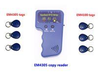 Lettore di copiatore palmare RFID, 125KHz Duplicate Duplicate Device ID Copia della carta Copia, 3pcs copiato EM4305 + 3 PZ EM4100, Min: 1 PZ