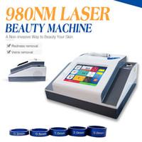 Prezzo di fabbrica 980nm macchina di terapia vascolare laser a diodi macchina rimozione vena ragno con due anni di garanzia gratuita CE / DHL