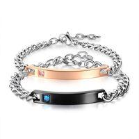New style Titanium Stainless Steel bracelet Couple bracelet ...