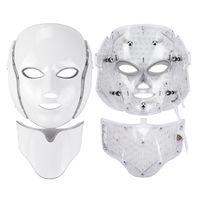 Kızılötesi Işık Yüz ve Boyun Beyazlatma Yüz Maskesi Yüz Germe LED ışık Terapi Maskesi