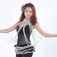 Stage Wear 2021 Belly Dance Costume Long Bead Ketting Armband Goud / Zilveren Sieraden 2 Kleuren