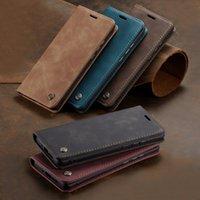 CaseMe 레트로 PU 가죽 자석 비즈니스 플립 카드 슬롯 Wallet Case Oneplus 8 Pro 7 Pro One Plus Nord 8