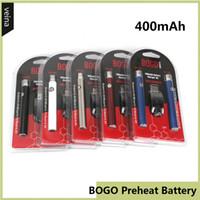 BOGO LO PRETOAT VV VAV BATERIA 400MAH Double Pen USB Charger Blister Kit para CE3 510 Thread Tanque de Cartucho de Óleo Grosso Multi Cores