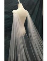 3M White Ivoire Applique Mariage Mariage Mariage Voile Cloak Hailla Shrug Cadre personnalisée