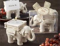 Fête Éléphant chanceux bougies Porte Lumignon bougies Porte mariage cadeaux d'anniversaire avec photophore