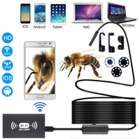 WIFI Endoskop Kamera 1-10m HD 1200P 8mm 8 LED Mini wasserdicht weich harte Kabel-Inspektionskamera USB-Endoskop für IOS Android-Smartphone