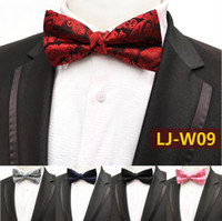 Men Bow Ties Luxury Wedding Formal Cravat British Style Gent...