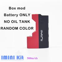 Kits IMIMI Kit de démarrage pour cartouches de cartouche de batterie de batterie de boîte de batterie Mod Mod 500mah 510Thread pour les vaporisateurs d'huile Bobine de mèche 0.5ml Réservoirs de 1.0ml Vape Stylos