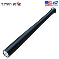 LED T6 recargable de múltiples funciones de seguridad Mace duro portátil autodefensa del bate de béisbol luz de la antorcha de emergencia