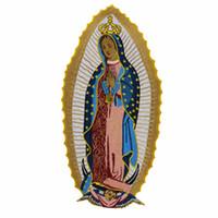 Patch ricamata Santa Vergine Maria su misura grande cucire su ferro da stiro per t-shirt giacca abbigliamento design applique