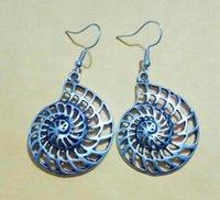Seashell do caracol Oceano Reliquiae Conch animal Dangly brinco encanto Pingentes Drape Brinco DIY Moda feminina jóias dom A578