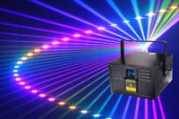 Analogique ILDA 40K de lumière laser d'animation ILW 40K d'analogue de couleur 8W RVB son automatique DMX ILDA 256 modèles Anlog flight case emballage